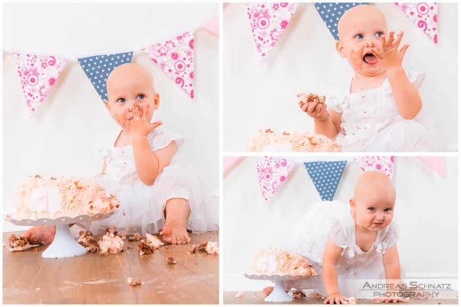 Smash Cake 1. Geburtstag Fotoshooting