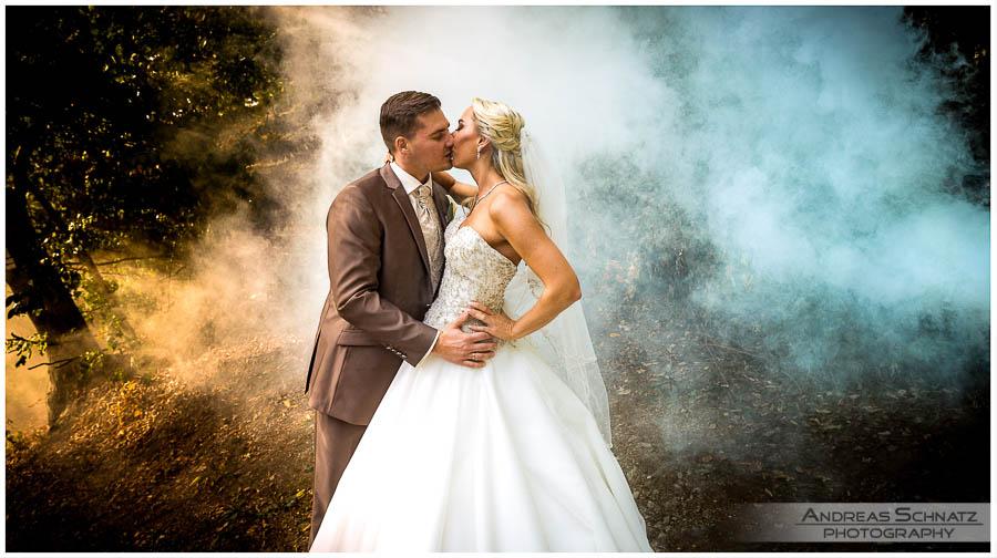 Hochzeitsbilder Rauchgranate Raucherzeuger