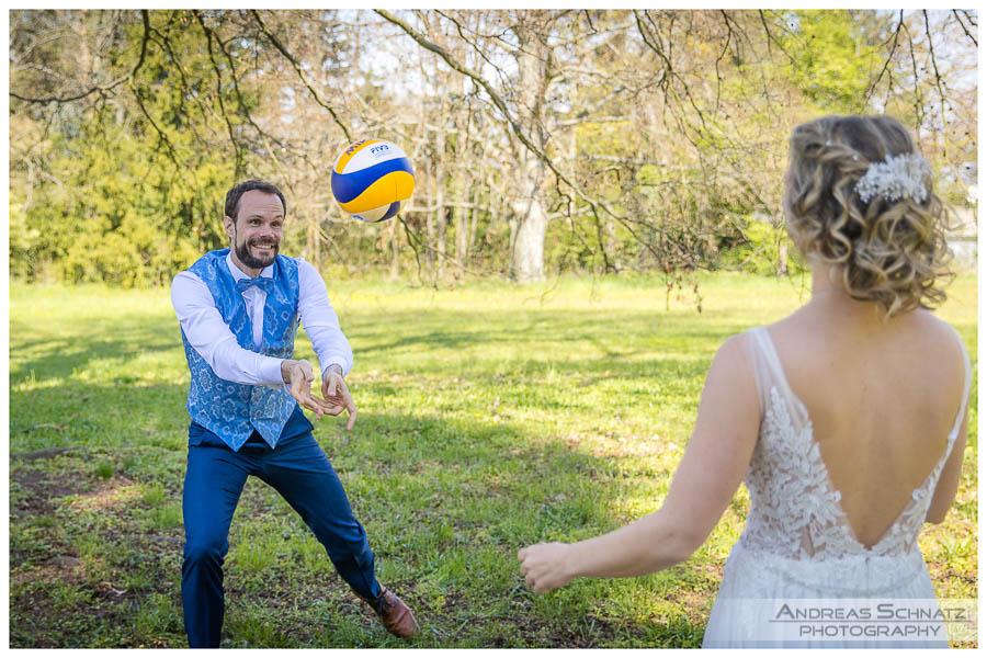 Hochzeitsbilder Rosenhoehe Darmstadt Volleyball