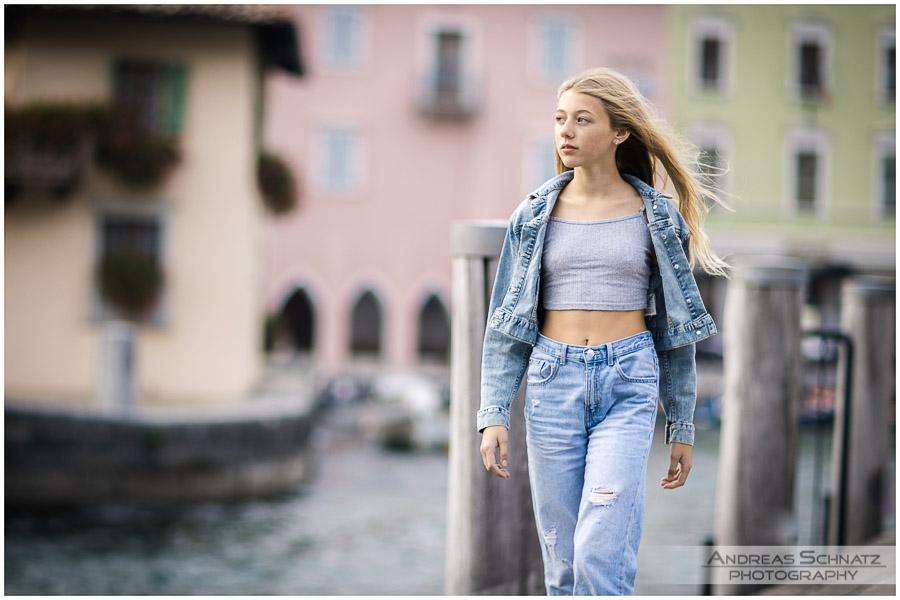 Model Porträt- und Sedcard-Shooting am Gardasee